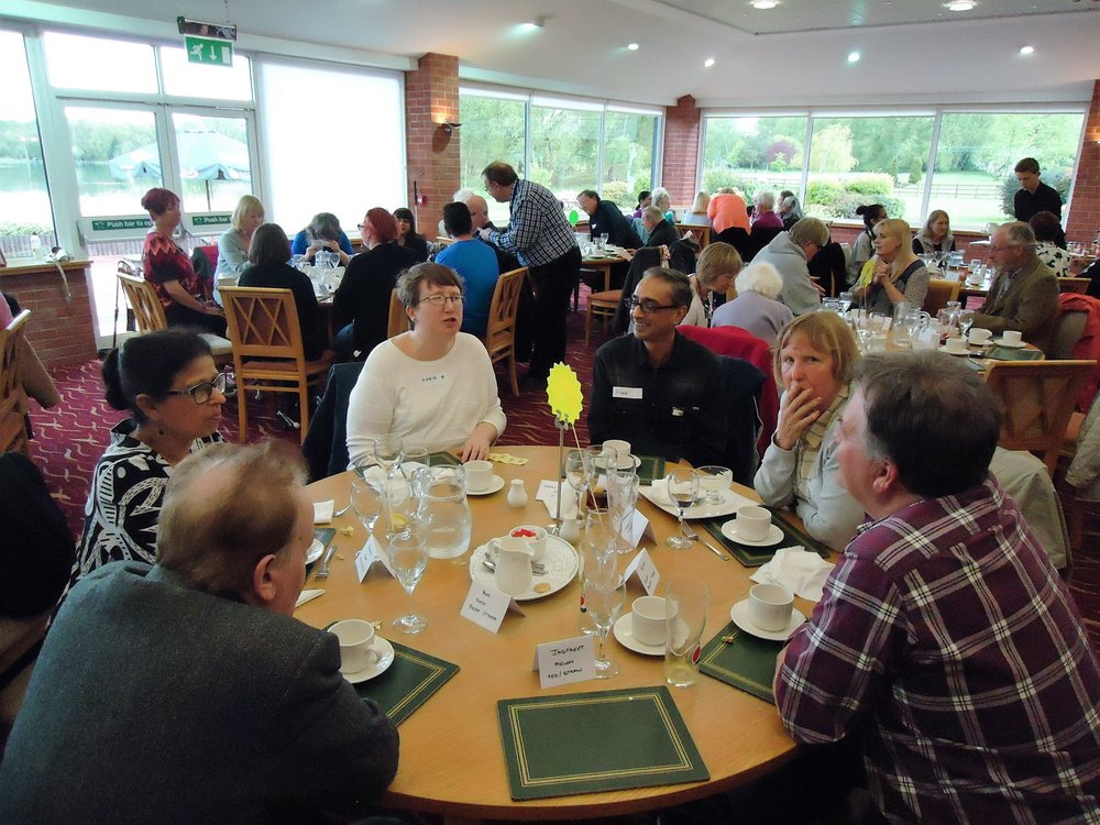 A picture of the befrienders and befriendees at the golf club lunch.