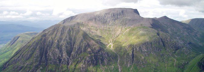 A picture of a landscape shot of the top of Ben Nevis.