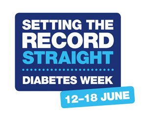 A picture of the Diabetes UK setting the record straight logo