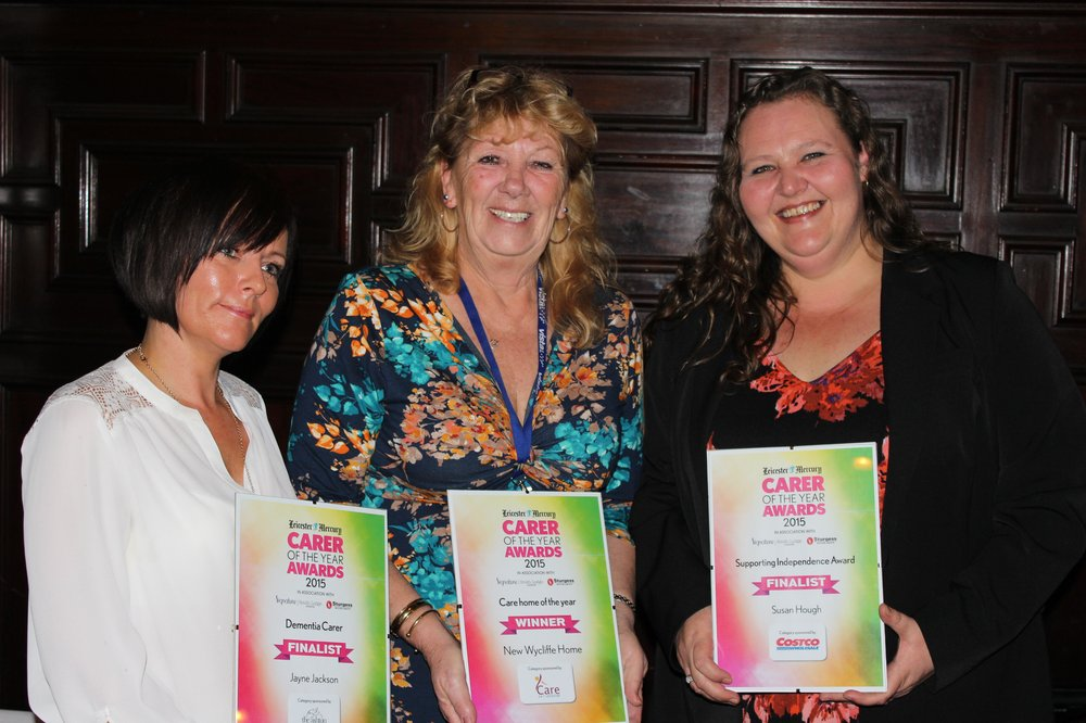 Jayne Jackson, Julie Rudd and Susan Hough with their awards