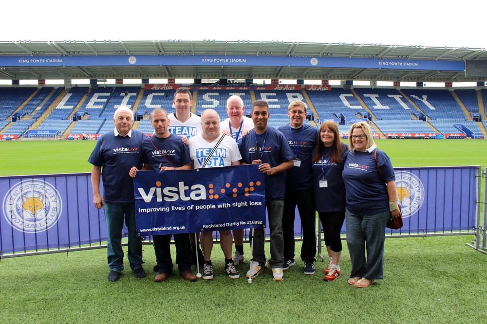 A picture of Martyn and his Team Vista at King Power Stadium football pitch.