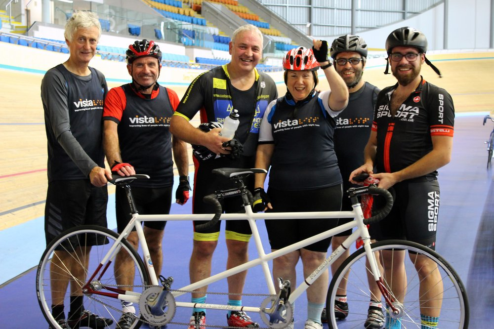 A picture of Vista's paracycling team in 2016.