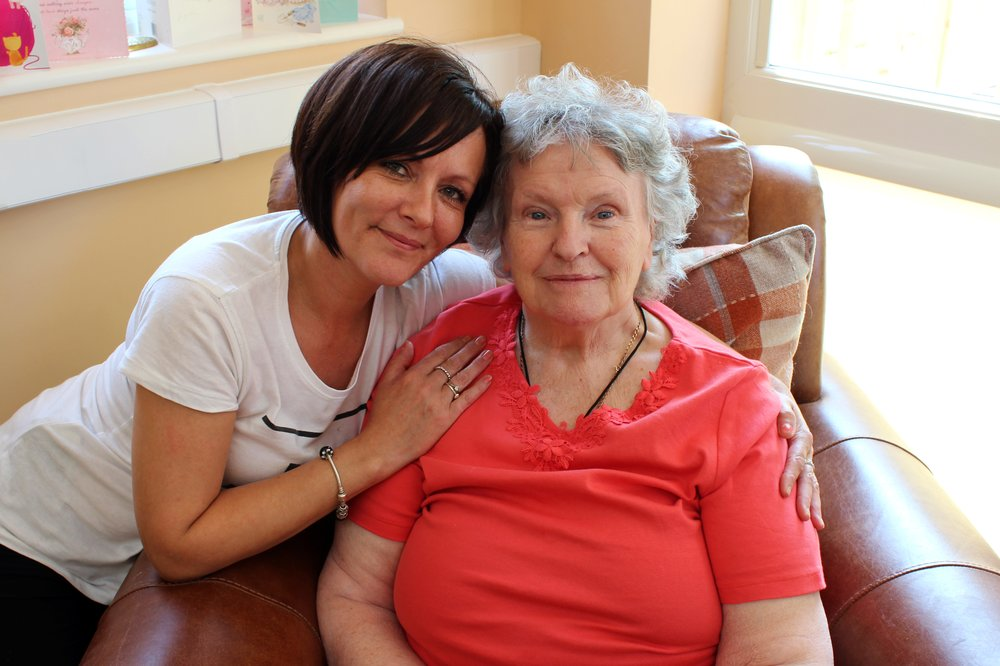 A picture of care staff Jayne Jackson and a resident at New Wycliffe Home.