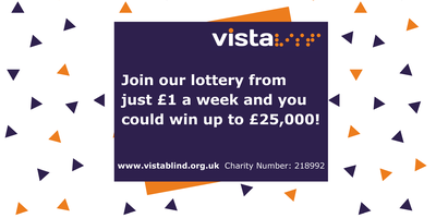 Image says 'Join our lottery from just £1 a week and you could win up to £25,000!'