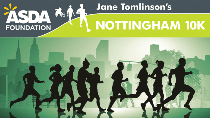 An animated picture of Nottingham's 10K run.